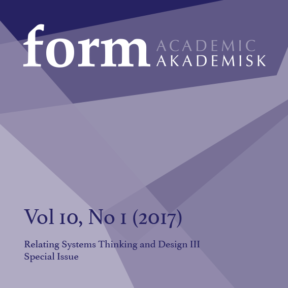 Se Vol 10 Nr 1 (2017): Relating Systems Thinking and Design III. Special Issue