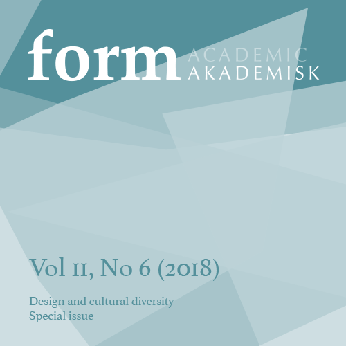 Se Vol 11 Nr 6 (2018): Design and cultural diversity. Special issue.